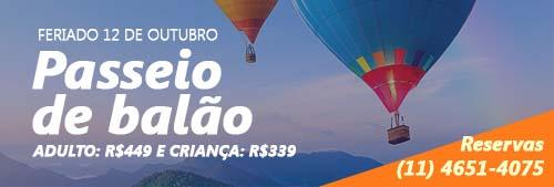 PASSEIO DE BALÃO – 12 DE OUTUBRO PRA CRIANÇAS DE TODAS AS IDADES