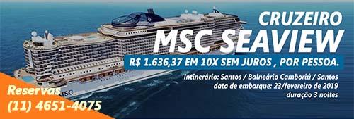 PRIMEIRO CRUZEIRO MSC SEAVIEW – SANTOS / BALNEÁRIO CAMBORIÚ